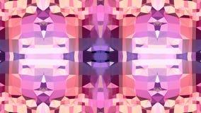 Fondo abstracto geométrico polivinílico bajo como un vitral o efecto móvil del caleidoscopio en 4k Animación del lazo 3d metrajes
