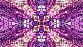 Fondo abstracto geométrico polivinílico bajo como un vitral o efecto móvil del caleidoscopio en 4k Animación del lazo 3d almacen de metraje de vídeo