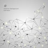 Fondo abstracto gris del cromo del polígono del negocio con las líneas y las formas de los círculos ilustración del vector