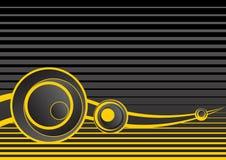 Fondo abstracto gris y amarillo Foto de archivo libre de regalías