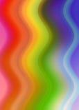Fondo abstracto hecho de ondas coloridas stock de ilustración