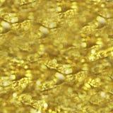 Fondo abstracto hermoso de oro del bokeh Imagen de archivo libre de regalías