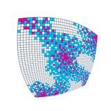 Fondo abstracto hermoso del mosaico del vector 3d, ejemplo geométrico artístico como plantilla para su disposición con el espacio libre illustration