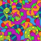 Fondo abstracto inconsútil con espirales multicolores Foto de archivo
