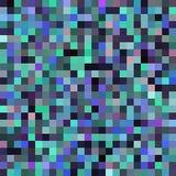 Fondo abstracto inconsútil con los cuadrados verdes, negros, azules Fotos de archivo libres de regalías
