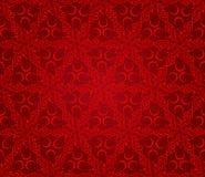 Fondo abstracto inconsútil del estampado de flores, rojo stock de ilustración