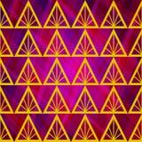 Fondo abstracto inconsútil del vector con los triángulos Foto de archivo libre de regalías