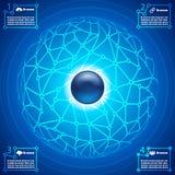 Fondo abstracto infographic de la red social Imagen de archivo libre de regalías