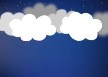 Fondo abstracto integrado por las nubes del Libro Blanco stock de ilustración