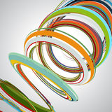 Fondo abstracto, líneas que remolinan, ejemplo colorido del vector Imagen de archivo libre de regalías