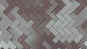 Fondo abstracto - ladrillos geométricos de los rectángulos - color oscuro ilustración del vector