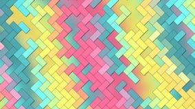 Fondo abstracto - ladrillos geométricos de los rectángulos - colores claros amarillos, rosa, azul stock de ilustración