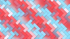 Fondo abstracto - ladrillos geométricos de los rectángulos - colores claros azules y rojos ilustración del vector