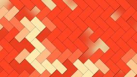 Fondo abstracto - ladrillos geométricos de los rectángulos - naranja de los colores claros stock de ilustración