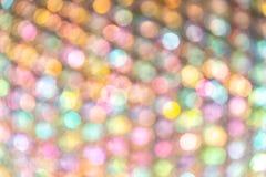 Fondo abstracto ligero colorido suave de Bokeh del círculo Imagen de archivo