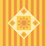Fondo abstracto lindo del sol Imagenes de archivo