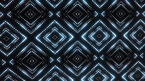 Fondo abstracto llevado azulado blanco del movimiento del lazo de los cuadrados VJ de las partículas ilustración del vector