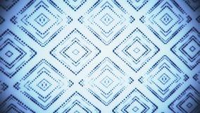 Fondo abstracto llevado azulado negro del movimiento del lazo de los cuadrados VJ de las partículas libre illustration