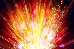 Fondo abstracto - luces brillantes del día de fiesta imagen de archivo libre de regalías