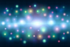Fondo abstracto mágico brillante multicolor del mosaico de puntos y un flash de la luz libre illustration