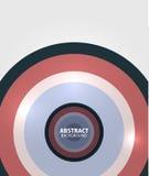 Fondo abstracto mínimo de los círculos modernos Foto de archivo libre de regalías