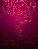 Fondo abstracto marrón del ornamento stock de ilustración