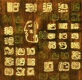 Fondo abstracto maya Fotografía de archivo libre de regalías