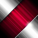 Fondo abstracto, metálico y rojo. Imagen de archivo libre de regalías