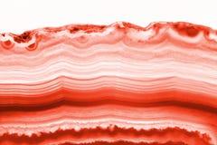Fondo abstracto - mineral seccionado transversalmente de la rebanada de la ágata roja fotos de archivo libres de regalías