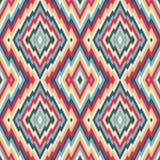 Fondo abstracto - modelo inconsútil del vector Estilo étnico del ejemplo de la alfombra Imágenes de archivo libres de regalías