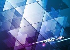 Fondo abstracto moderno de la tecnología azul y púrpura ilustración del vector