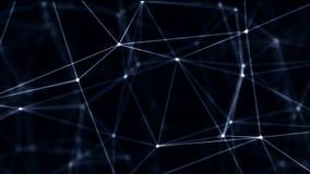 Fondo abstracto molecular colocado del plexo de la tecnología futurista Conexiones de red Red que brilla intensamente futurista ilustración del vector