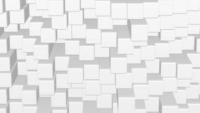 Fondo abstracto - mudanza blanca de la pared de los cubos representación 3d stock de ilustración