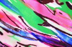 Fondo abstracto multicolor de la textura de la tela Imagen de archivo