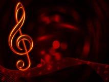 Fondo abstracto musical Imagen de archivo