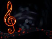 Fondo abstracto musical Imágenes de archivo libres de regalías