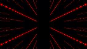 Fondo abstracto musical Pasillo de las ondas acústicas Entrelazamiento de las partículas de los sonidos representaci?n 3d stock de ilustración