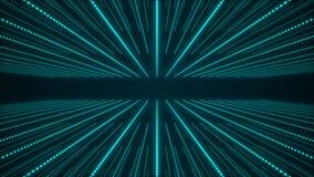 Fondo abstracto musical Pasillo de las ondas ac?sticas Entrelazamiento de las part?culas de los sonidos representaci?n 3d ilustración del vector
