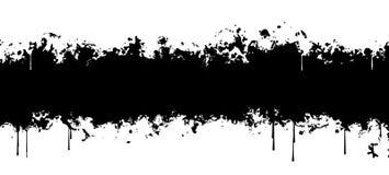 Fondo abstracto negro con flujos Foto de archivo libre de regalías