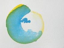 Fondo abstracto único de la acuarela Foto de archivo libre de regalías