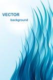 Fondo abstracto - onda azul Fotografía de archivo