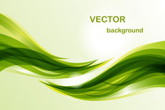 Fondo abstracto - onda verde Fotos de archivo