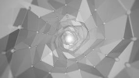 Fondo abstracto - ondas del polígono ilustración del vector