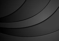Fondo abstracto ondulado del concepto negro Imágenes de archivo libres de regalías