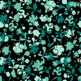 Fondo abstracto oscuro con el ornamento de la teja del vector Texturas sin fin para su diseño, publicidad, carteles libre illustration