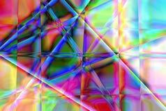 Fondo abstracto para el diseño creativo, fantasía en un tema de sombras multicoloras reflejadas de la luz en las caras de un cris fotografía de archivo
