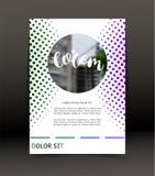 Fondo abstracto para el folleto, cubierta Plantilla para el cartel Vector Fotografía de archivo libre de regalías