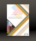Fondo abstracto para el folleto, cubierta Plantilla para el cartel Vector Fotos de archivo