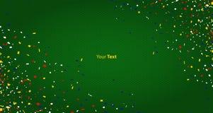 Fondo abstracto para el partido de la celebración con confeti Dot Pattern Background Vector stock de ilustración