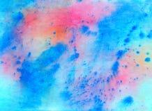 Fondo abstracto pintado en acuarela Fotos de archivo